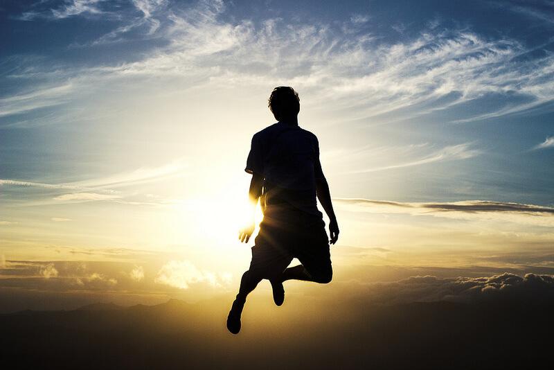 Nate Bittinger jumping in air