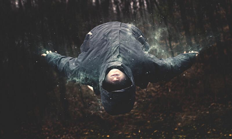 Nate Bittinger levitating man