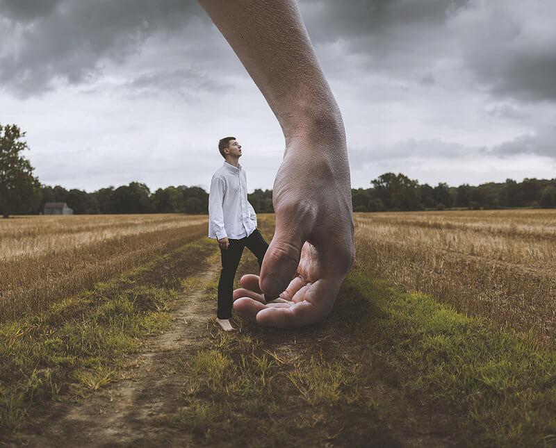 Nate Bittinger hand holding man
