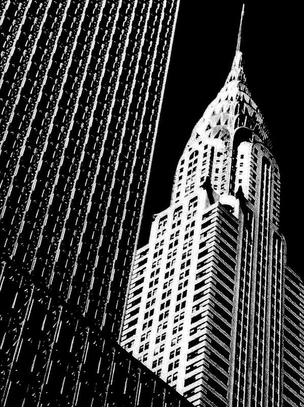 Skyscraper black and white