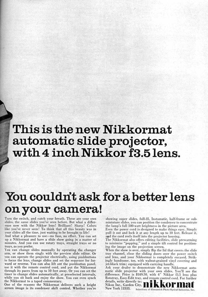 Nikkor lens 1965