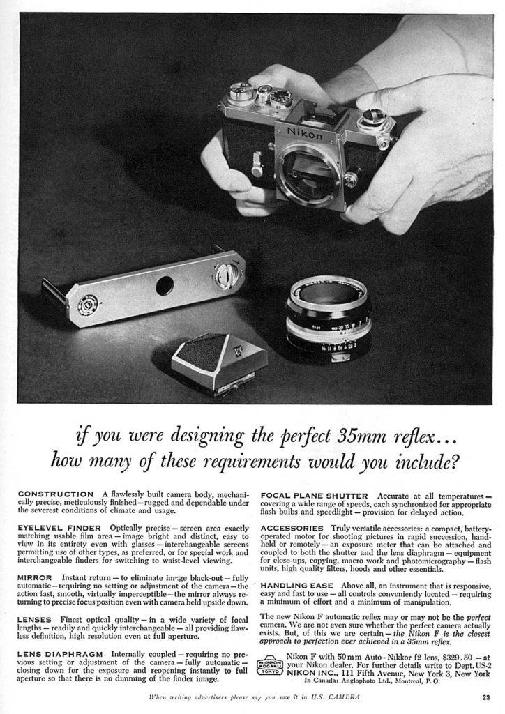 Nikon 35mm reflex 1960