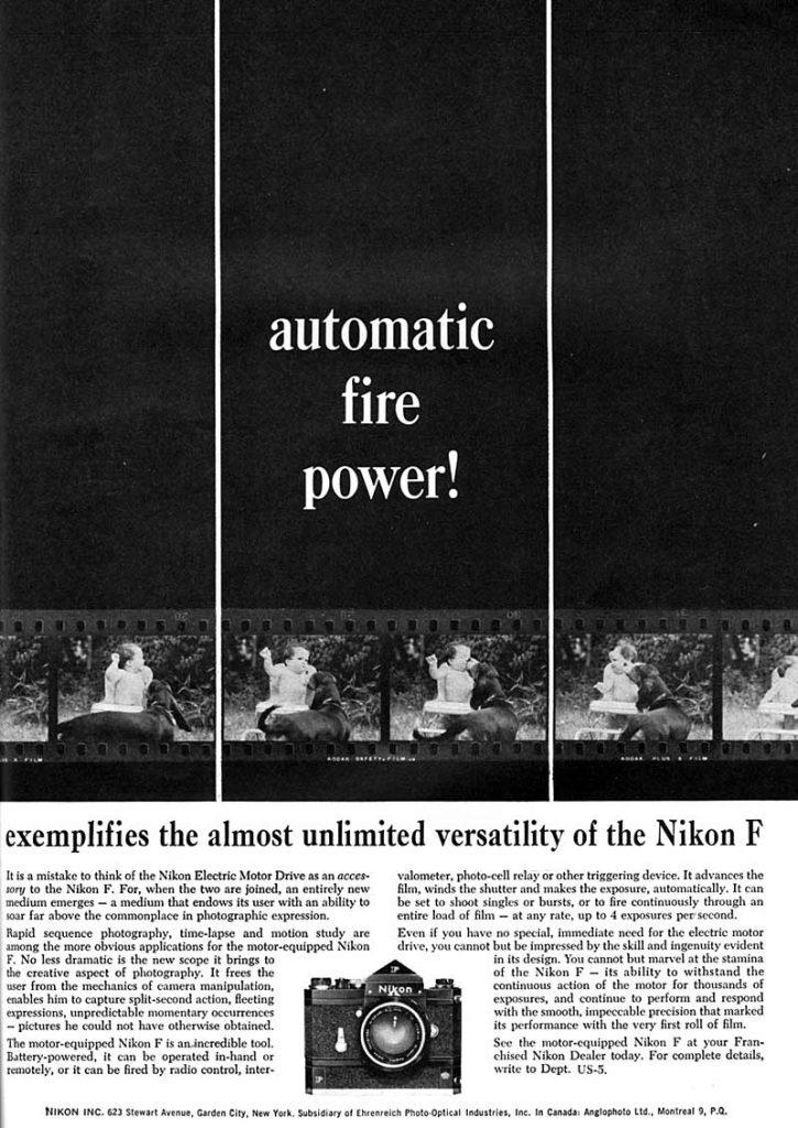 Nikon F ad 1965