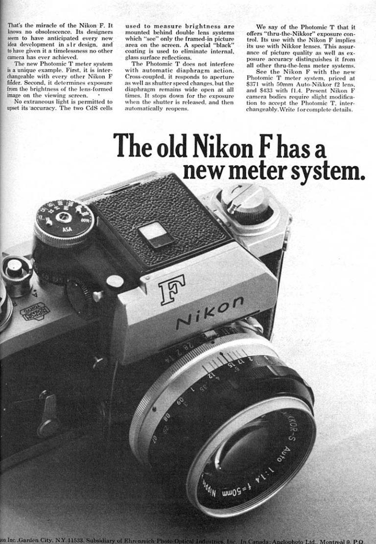 Nikon F meter system 1965