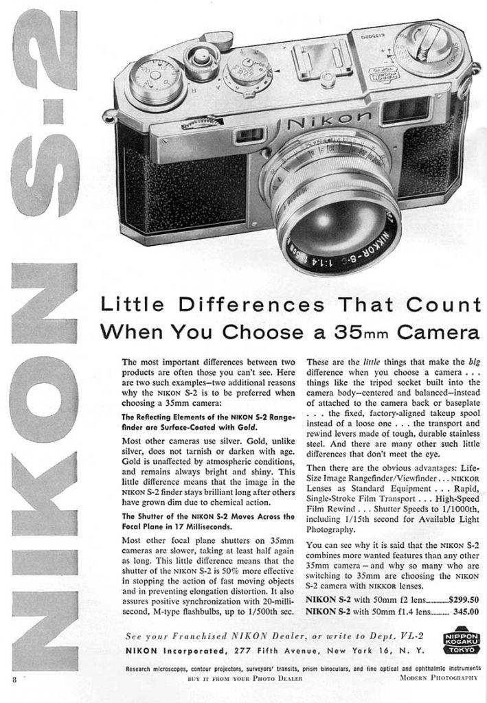 Nikon S-2 Advertisement 1955