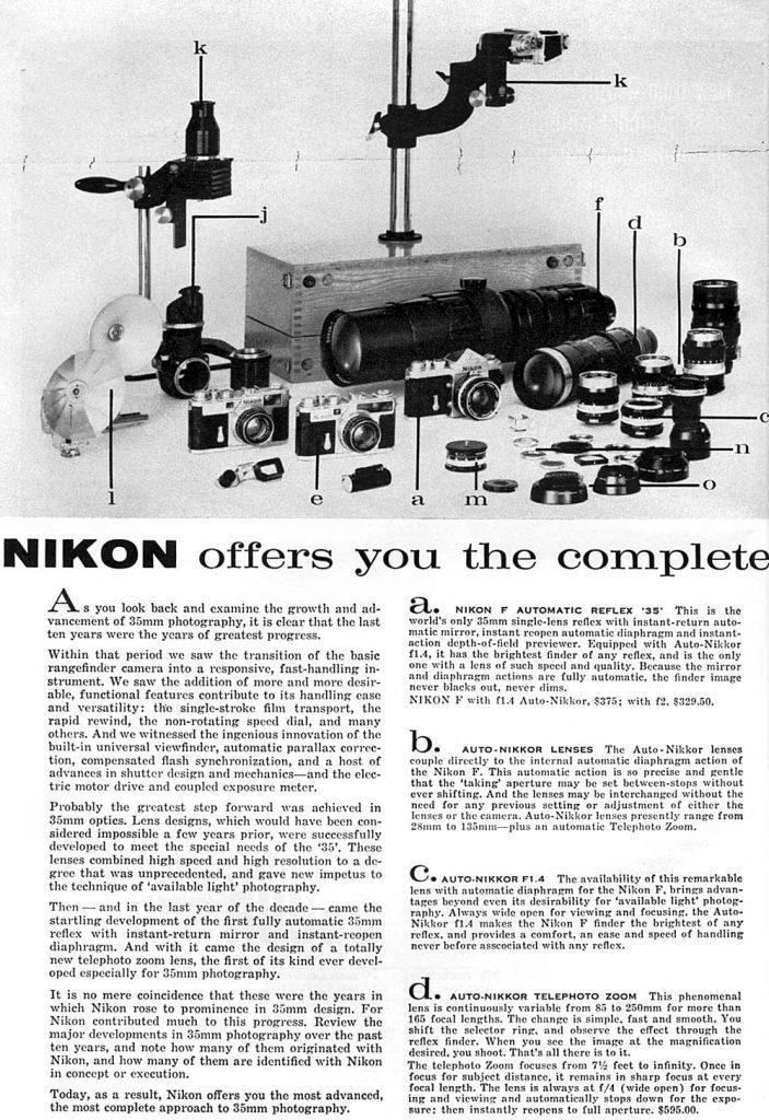 Nikon Vintage Advertisement 1960