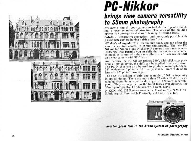PC-Nikkor 1965