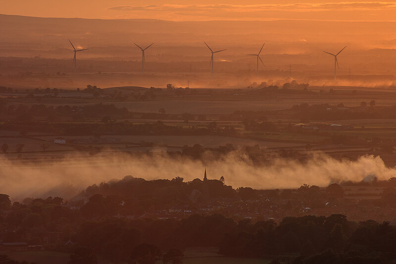 windmills and mist