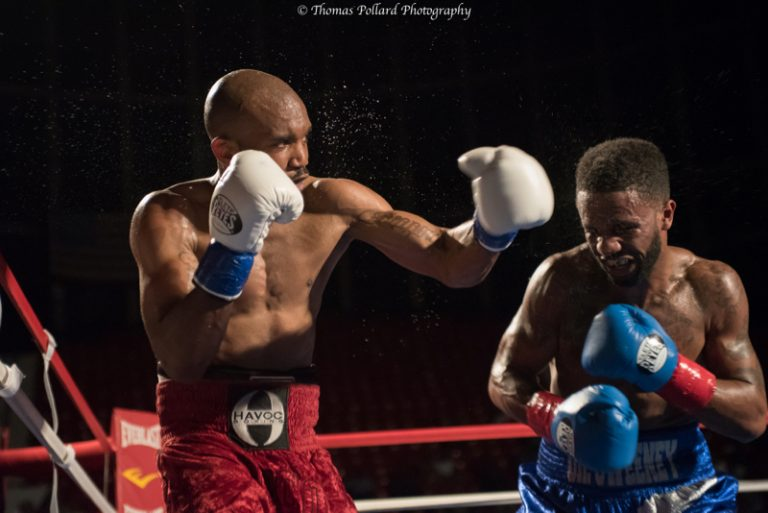 Indoor sport photography example boxing