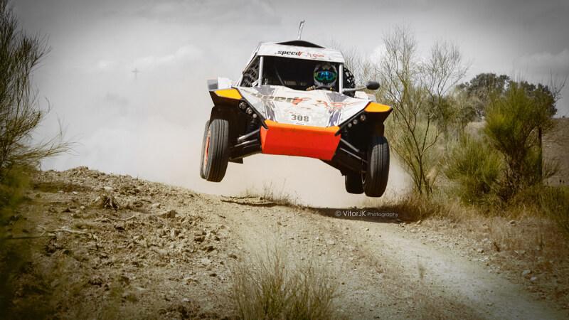 rally car jumping