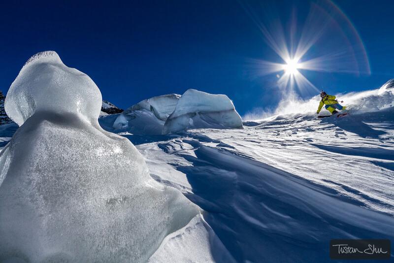 Skier in La Grave, Hautes Alpes, France