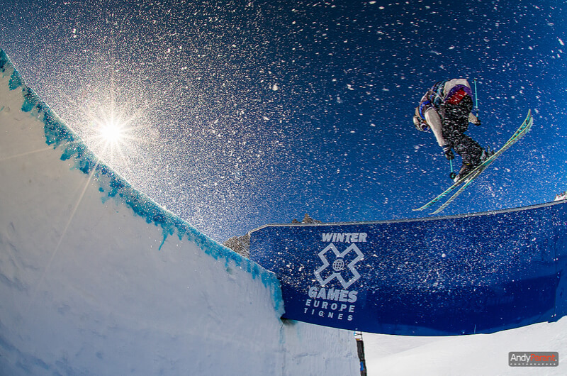 skier jumping at the winter games europe