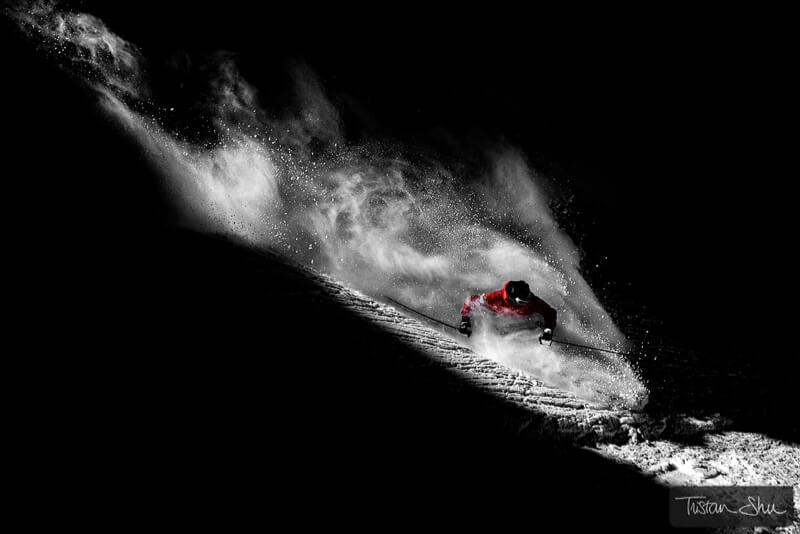 Skier in Tignes, Savoie, France