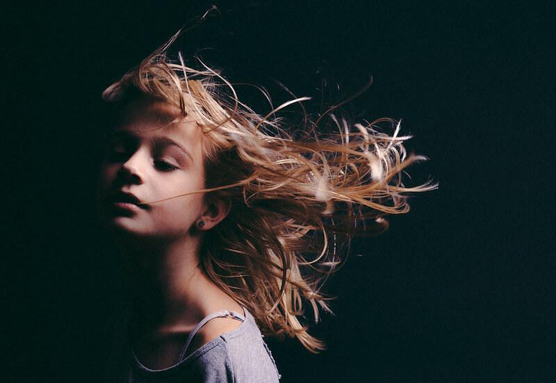 Edwin Keijzer - portrait flying hair