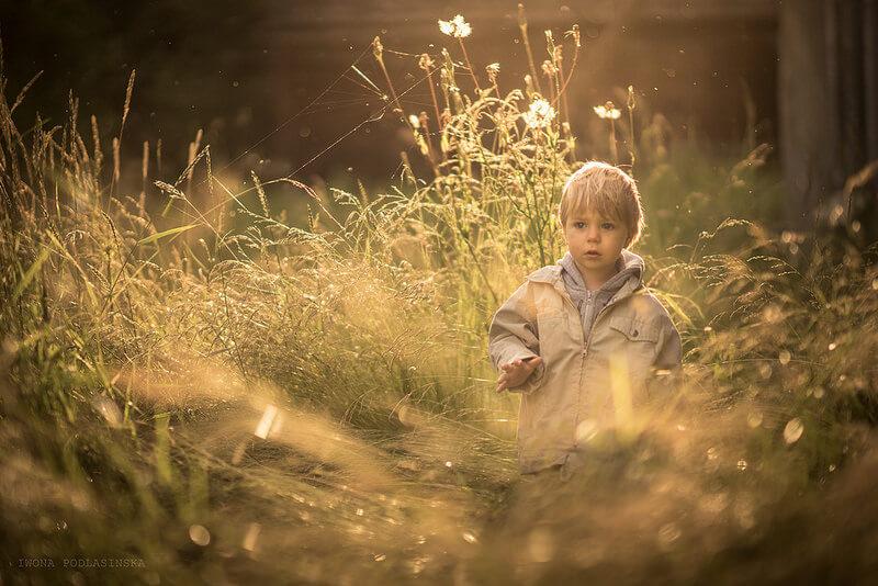 boy lost in field
