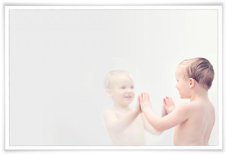 little boy mirror