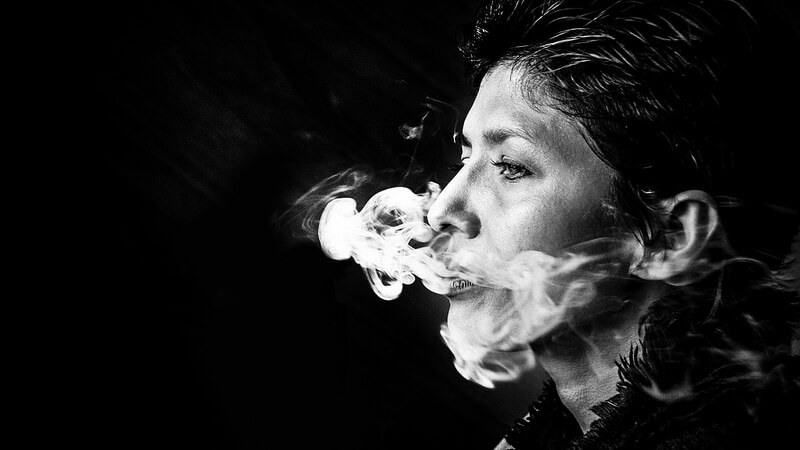cigarette smoke portrait