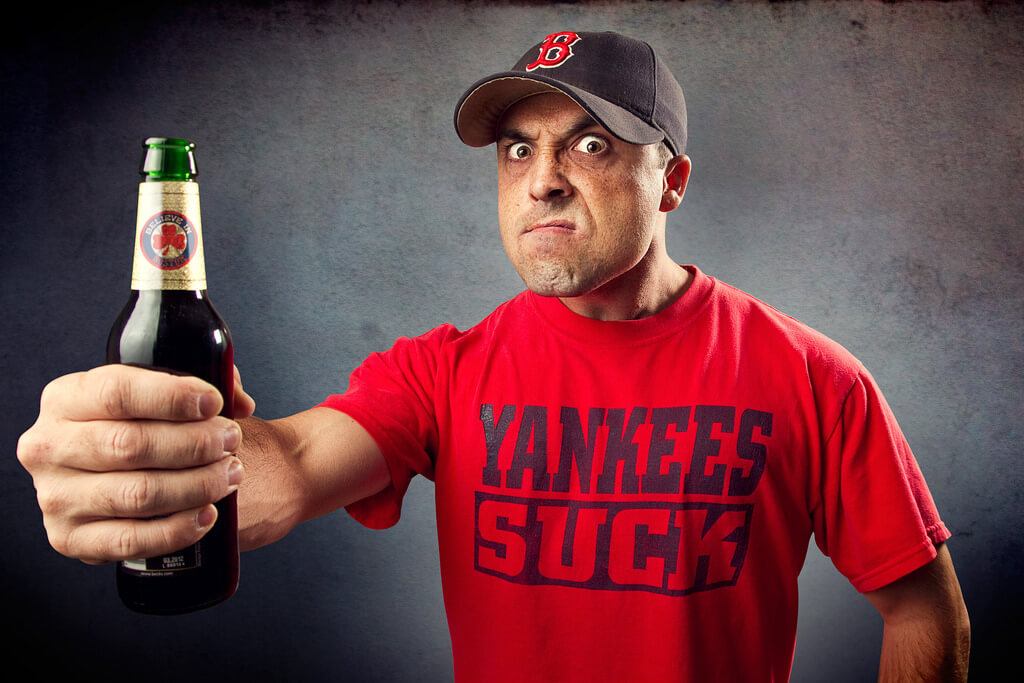 portrait photography tips with Yankees Suck tshirt