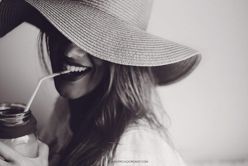 wide brim hat portrait