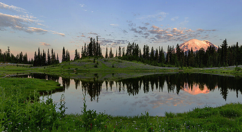 Early Morning at Tipsoo Lake, Mt Rainier NP, WA