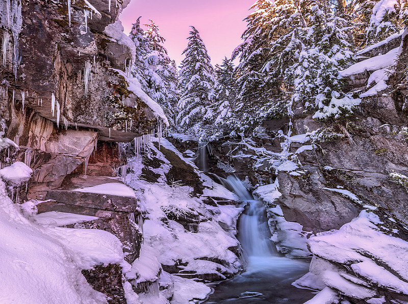 Mt Rainier NP in Winter (Christine Falls)
