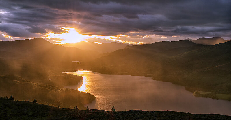 Sunfall on the Trossachs