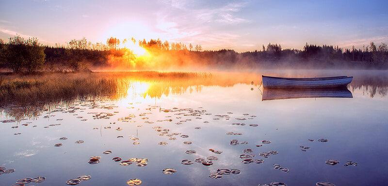 Sunrise on Rusky Lake
