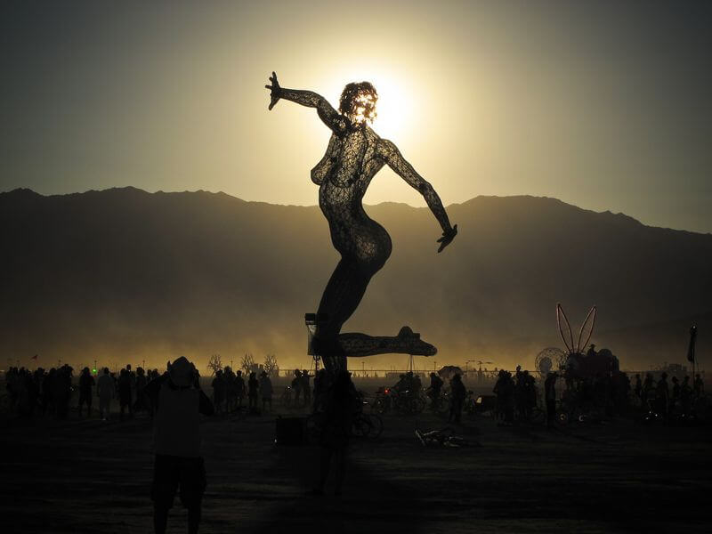 Burning Man 2010 statue