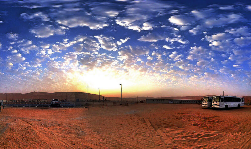 clouds over arabian desert