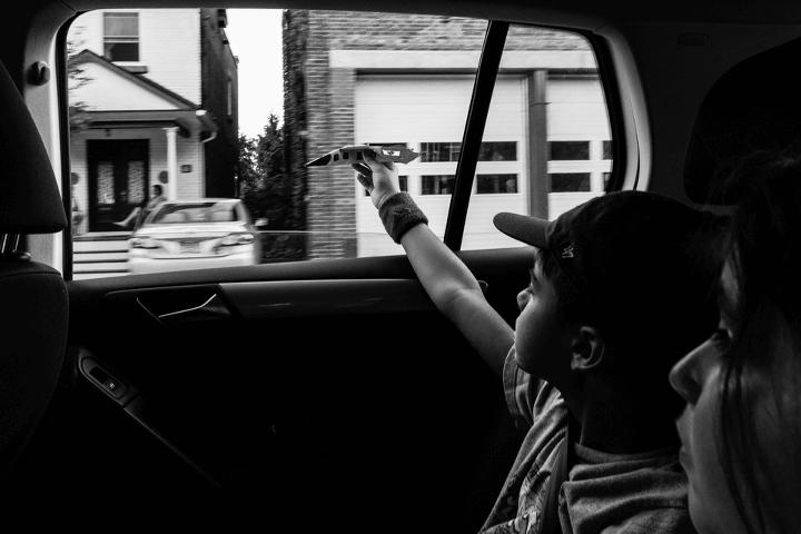 Celina Bailey riding in car