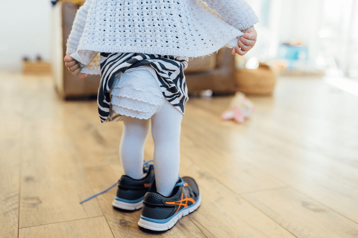 Jenny Rusby little girl big shoes