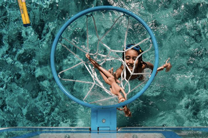 Celina Bailey swimming pool basketball