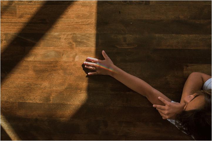 Celina Bailey hand in sunlight