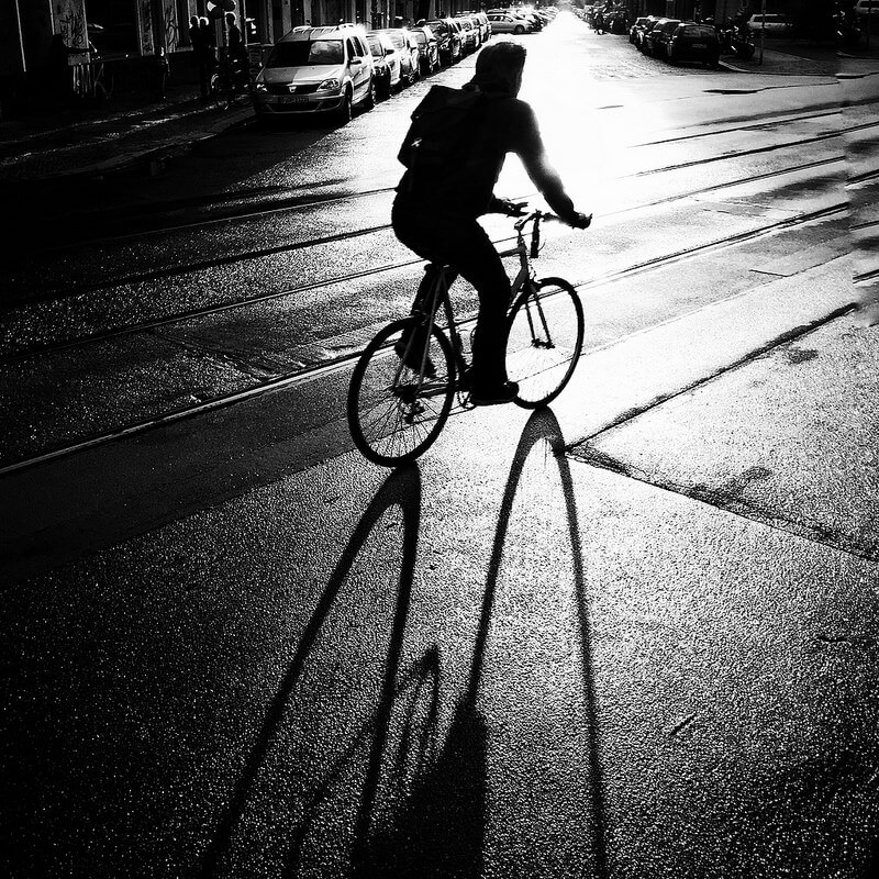silhouette berlin bike