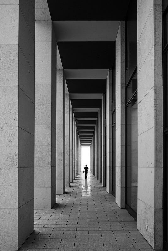 airport Berlin silhouette