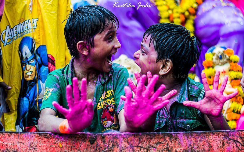 Krutika Joshi colorful children portraits