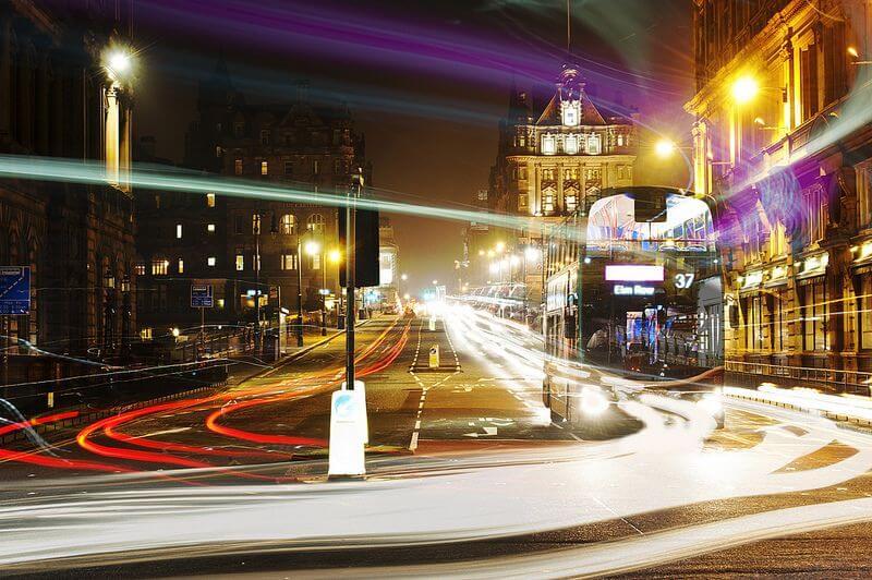 time-lapse London traffic