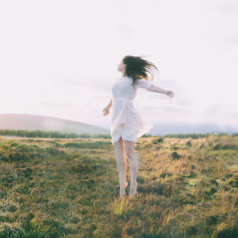 jumping white dress