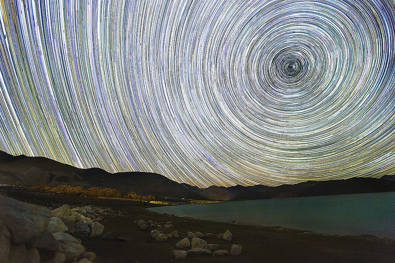 Pangong Lake Starry Night time lapse
