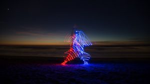 Light Paralysis: Photographing Yoga with LEDs