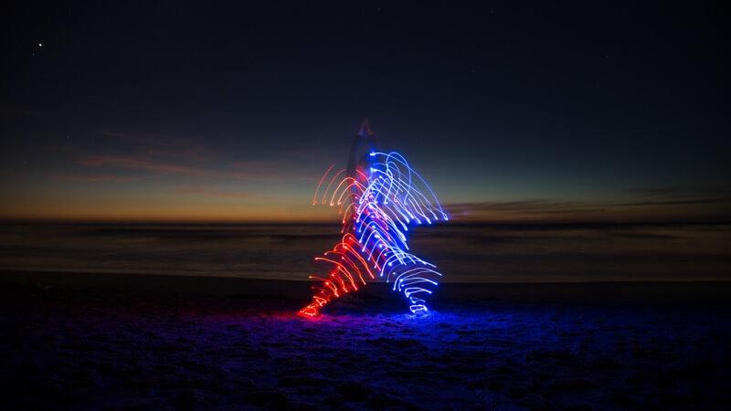 Yoga Dancing with LEDs