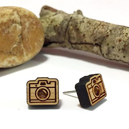 Bamboo Camera Earrings