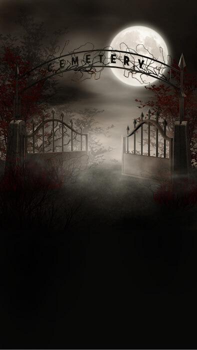 cemetery photo backdrop