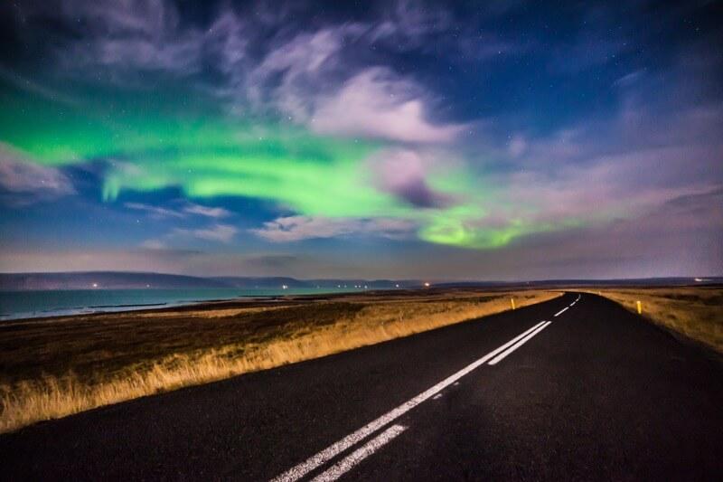 Andrés Nieto Porras - Night Iceland Road