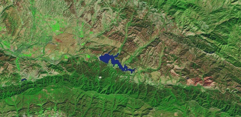 Lake Cachuma, Southern California Drought before