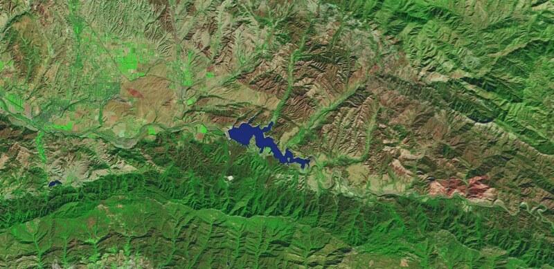 Lake Cachuma, Southern California Drought before
