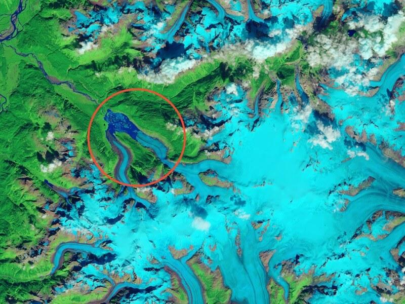 Porcupine Glacier calves in British Columbia before