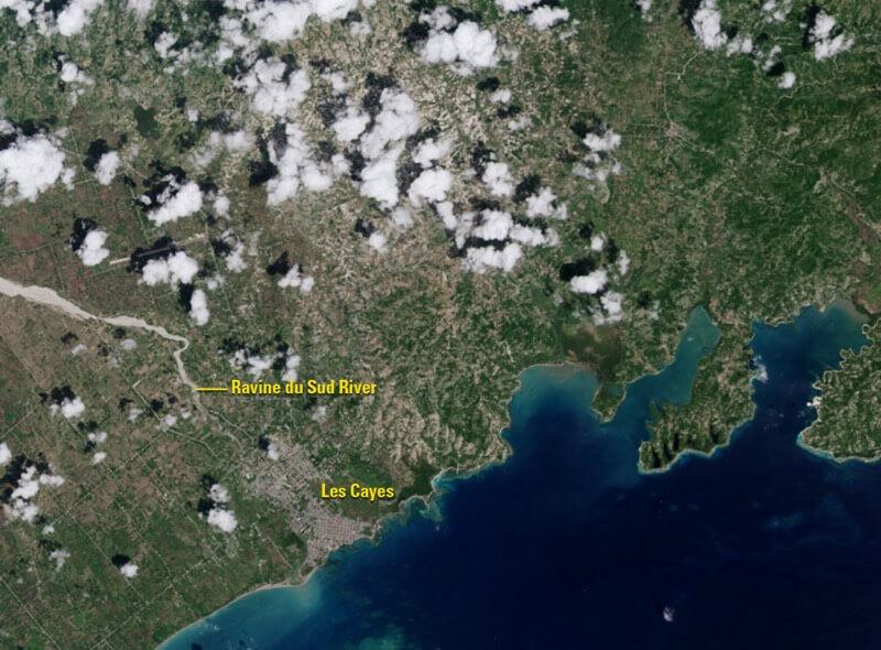 The effects of Hurricane Matthew in southwestern Haiti before