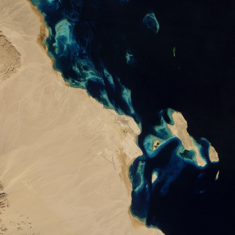 Urban growth in Hurghada, Egypt before
