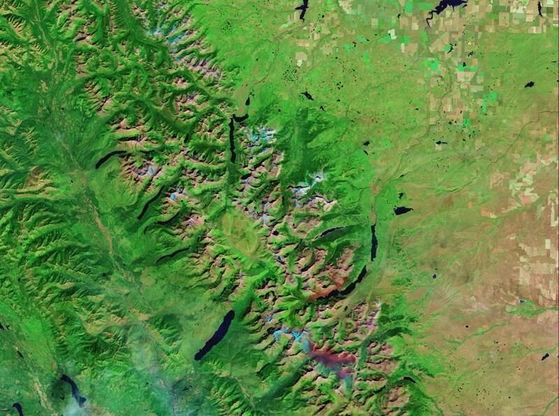 Melting glaciers in Glacier National Park, Montana after